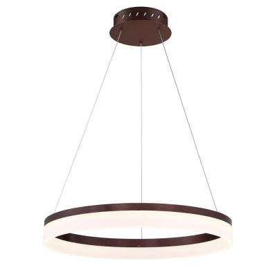 Minuta Collection 37-Watt Bronze Integrated LED Chandelier