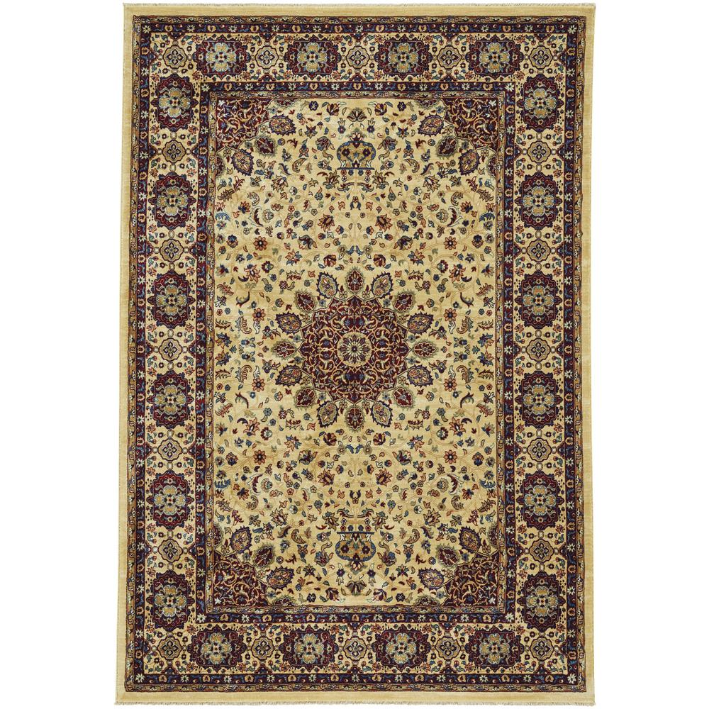 Anatolia-Medallion Sand 3 ft. x 5 ft. Area Rug