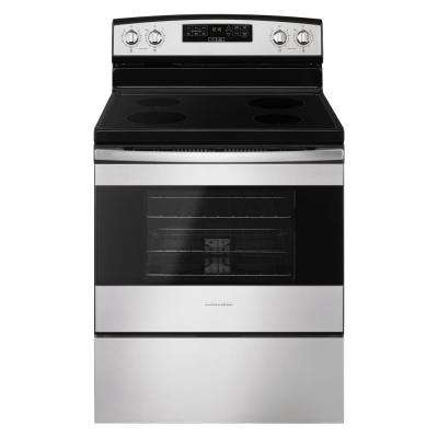 Manual clean electric ranges ranges the home depot 30 in 48 cu ft electric range in stainless steel fandeluxe Image collections
