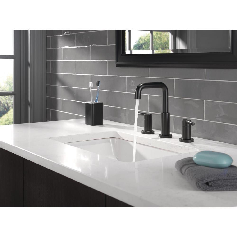 Nicoli 8 in. Widespread 2-Handle Bathroom Faucet in Matte Black
