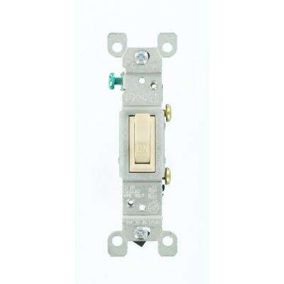15 Amp Single-Pole Toggle Switch, Light Almond