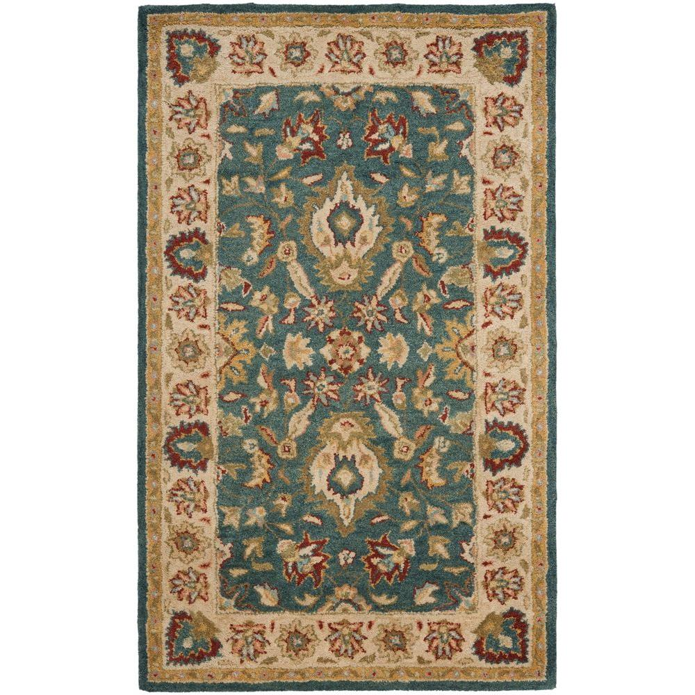 Antiquity Blue/Beige 4 ft. x 6 ft. Area Rug