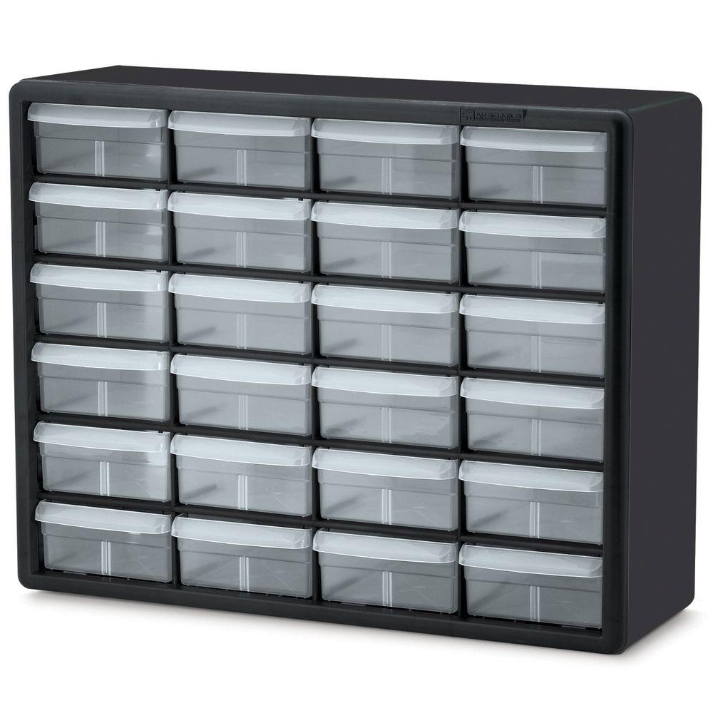 Akro Mils 24 Compartment Small Parts Organizer Cabinet