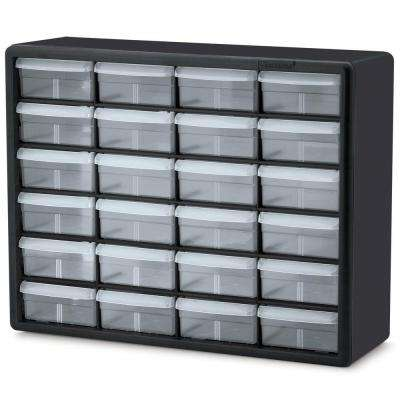 24-Compartment Small Parts Organizer Cabinet