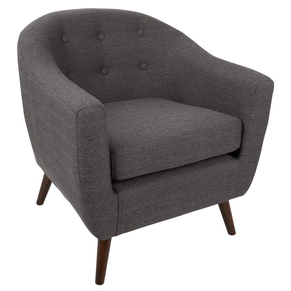 Lumisource Rockwell Grey Accent Chair
