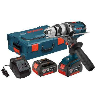 18 Volt Lithium-Ion Cordless 1/2 in. Variable Speed Brute Tough Hammer Drill/Driver Kit with Hard Case