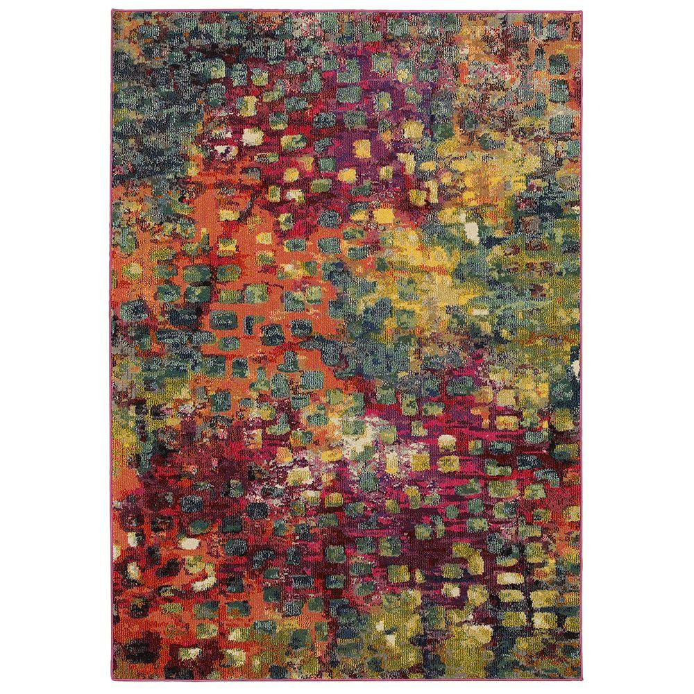 LR Resources Jubilee Multi 7 ft. 8 in. x 9 ft. 8 in. Artistic Plush Indoor Area Rug
