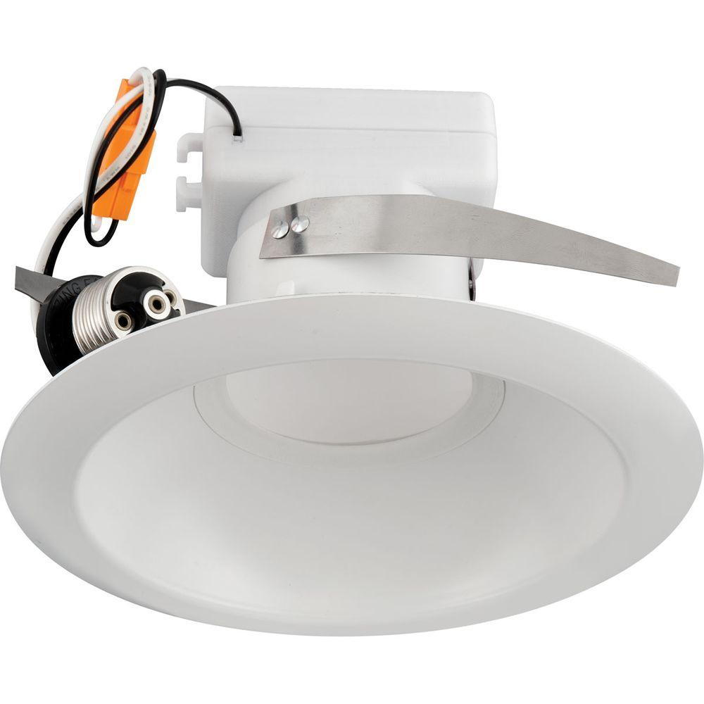 Progress Lighting 6 In White Recessed Led Trim 3500k
