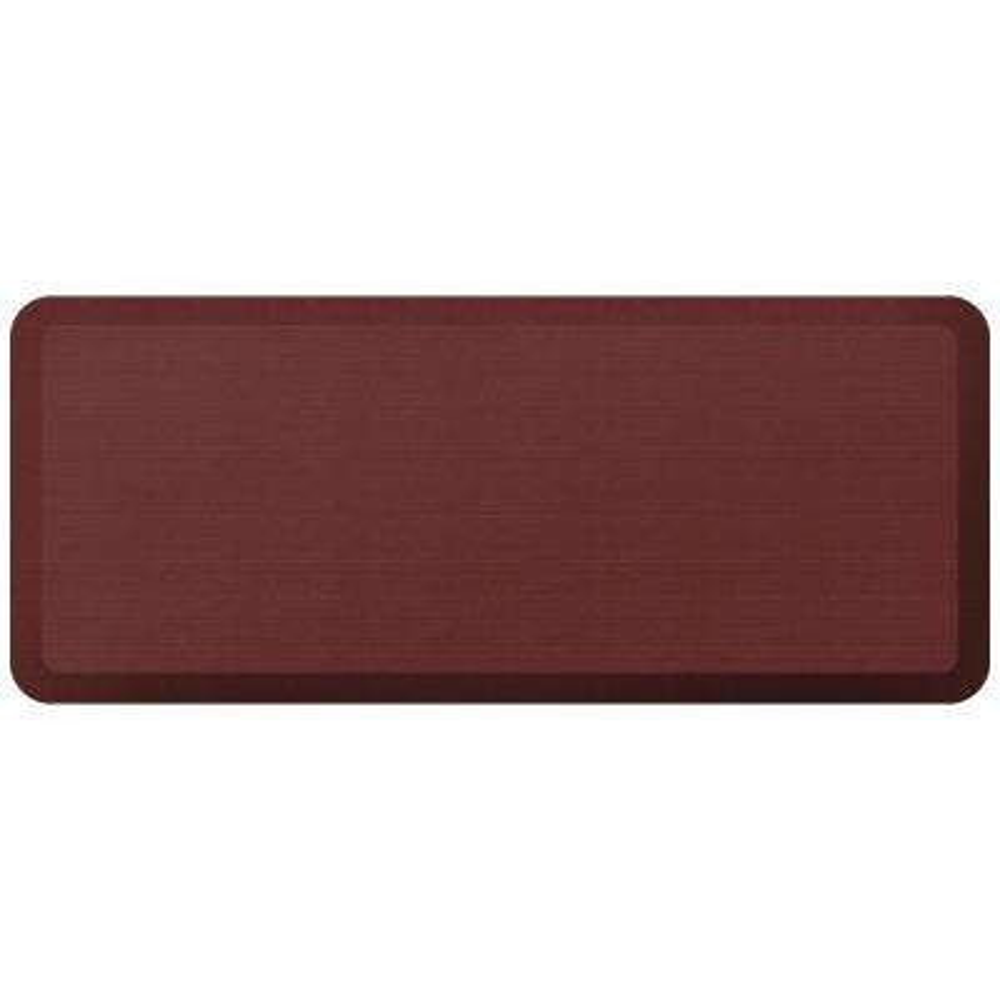 Designer Grasscloth Crimson 20 in. x 48 in. Anti-Fatigue Comfort Kitchen Mat
