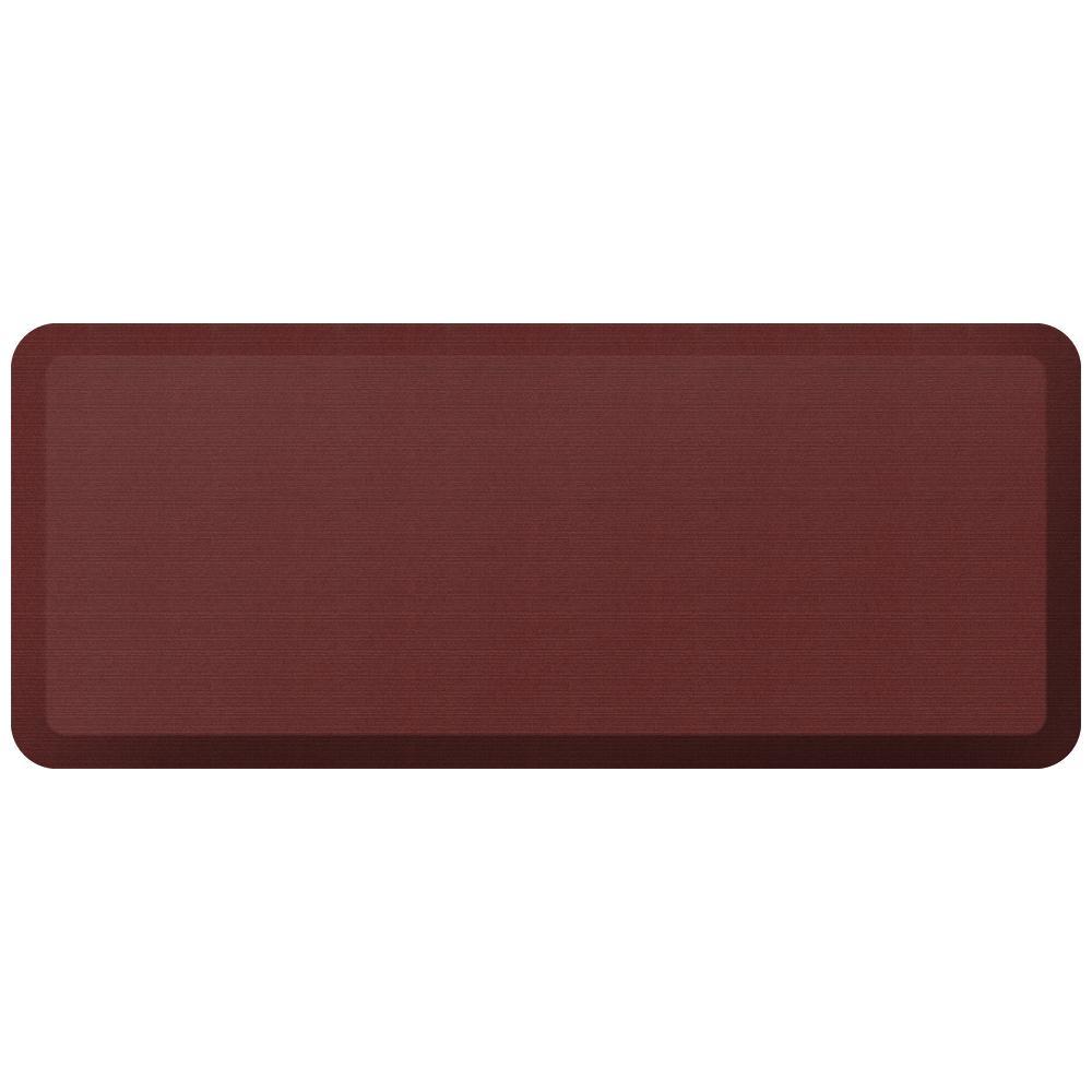 Designer Grasscloth Crimson 20 In. X 48 In. Anti Fatigue Comfort Kitchen Mat