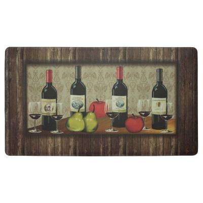 Sophisticated Wine 20 in. x 32 in. Extra Thick Premium Anti-Fatigue Kitchen Mat