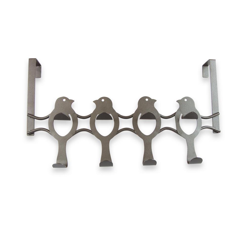 Over the Door Counter Drawer Bird Organizer Hooks - 8 Hooks Bronze