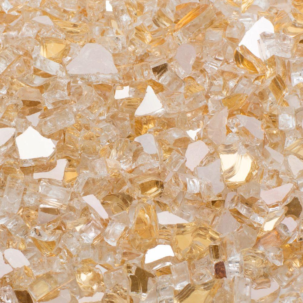 1/4 in. 20 lb. Gold Reflecitive Fire Glass