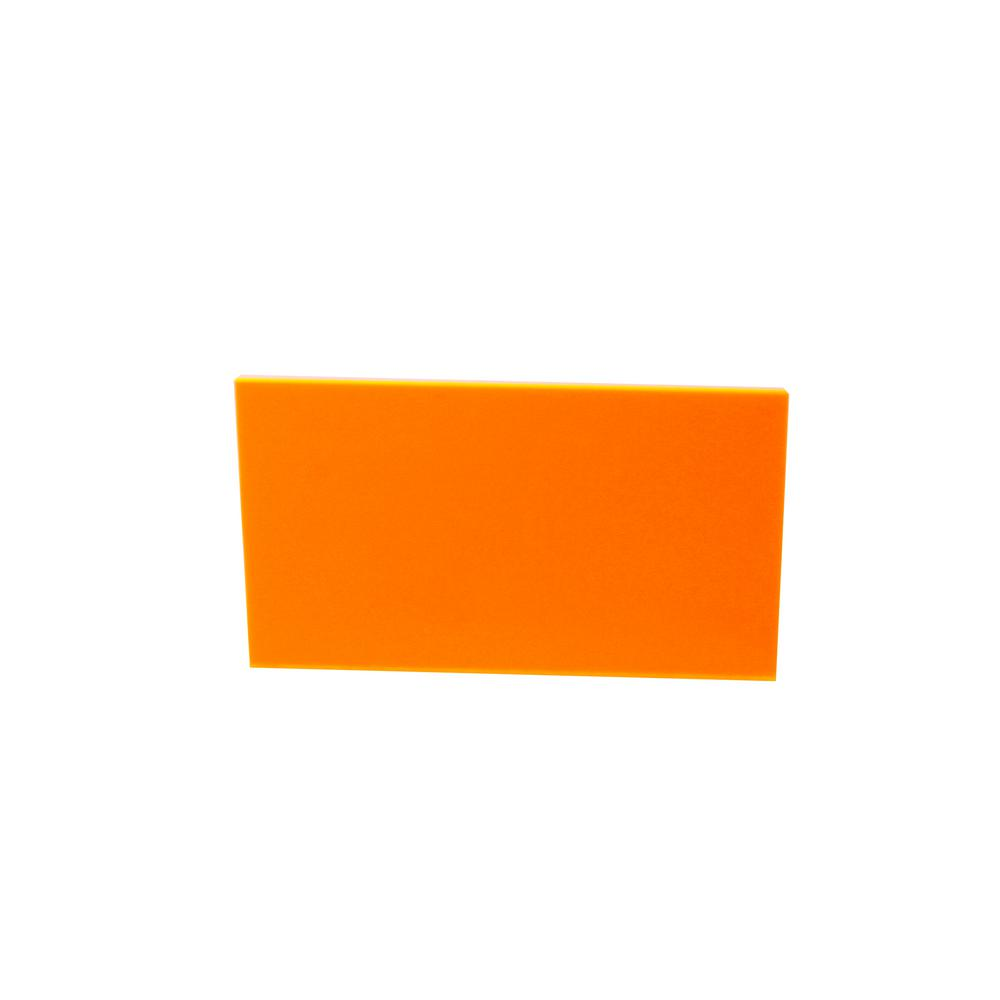 36 in. x 36 in. x 1/8 in. Thick Acrylic Fluorescent Orange 9096 Sheet