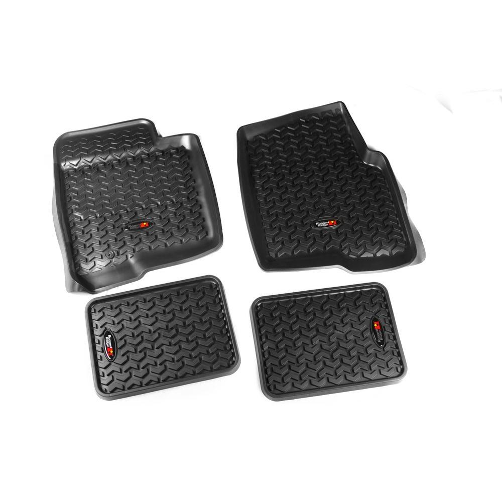 Floor Liner Set 4-Piece Black 09-10 Ford F150 Regular/Ext/Super Crew