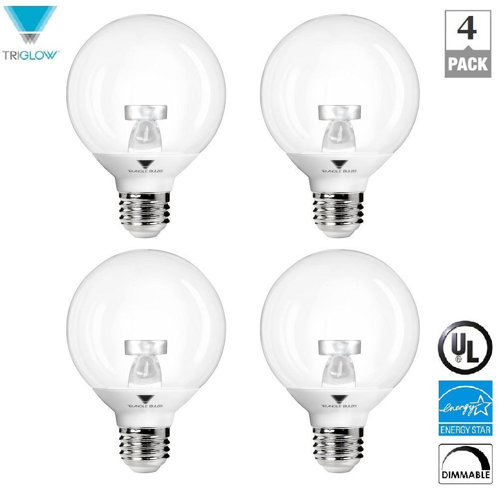 40-Watt Equivalent G25 Vanity Globe Dimmable Warm White LED Light Bulbs