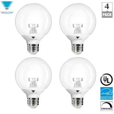 40-Watt Equivalent G25 Vanity Globe Dimmable Warm White LED Light Bulbs (4-Pack)