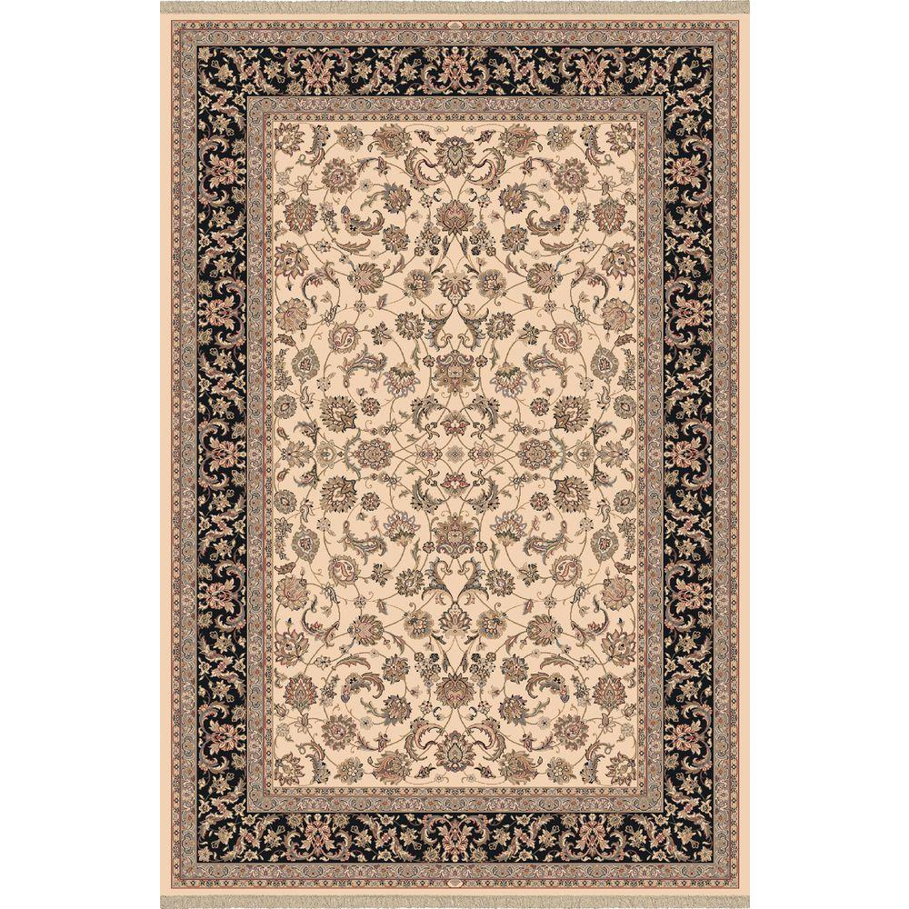 Dynamic Rugs Brilliant Ivory 5 ft. 3 in. x 7 ft. 7 in. Indoor Area Rug