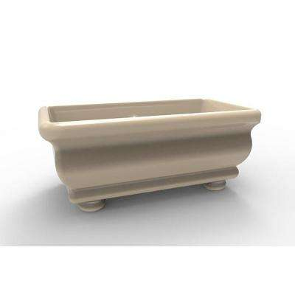 Donatello 5.8 ft. Acrylic Claw Foot Freestanding Air Bath Bathtub in Almond