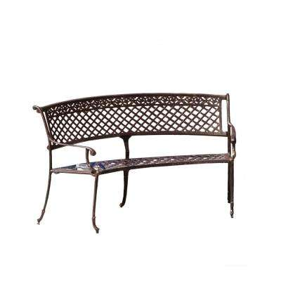 Sebastian 65 in. Copper Aluminum Outdoor Bench