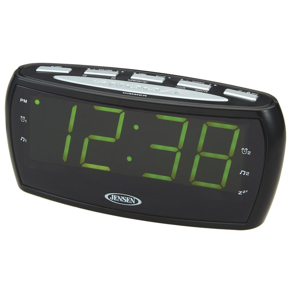 AM/FM Alarm Clock Radio with Large Display