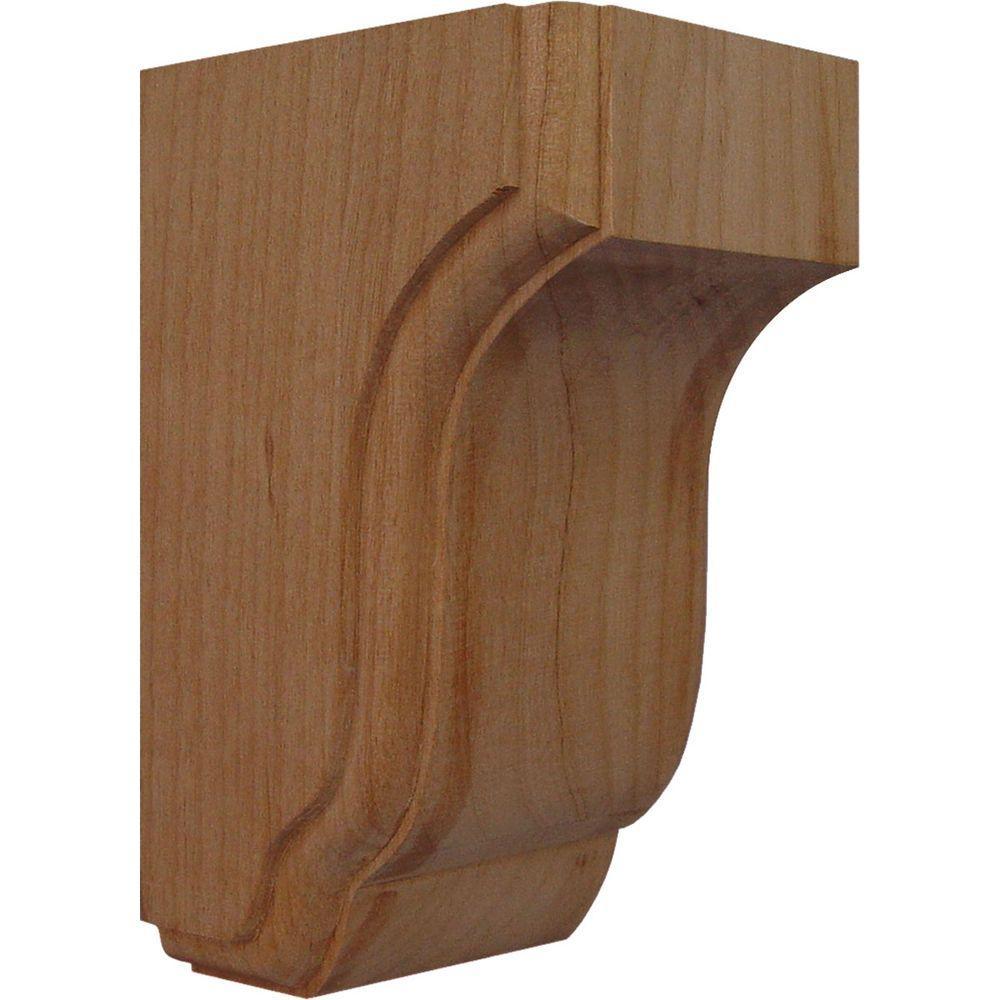 2-Pack Walnut x x Ready to be Stained 2 Piece Ekena Millwork CORW02X04X08RJWA-CASE-2 2W x 4 1//2D x 8H Small Rojas Wood Corbel