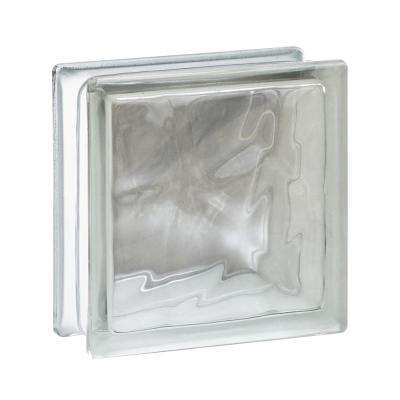 Nubio 5.75 in. x 5.75 in. x 3.12 in. Wave Pattern Glass Block (10-Pack)