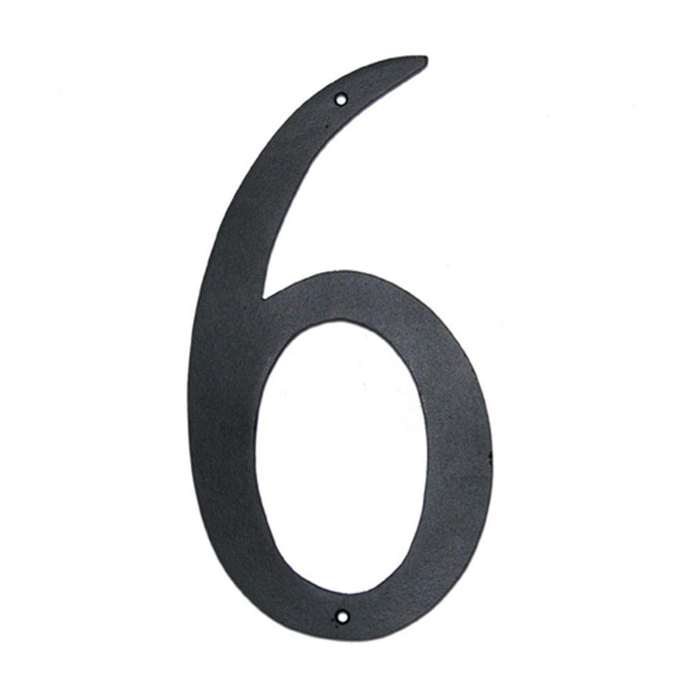 4 in. Standard House Number 6