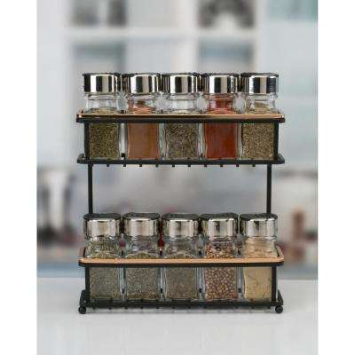 2 Tier Rose Gold Slim Line Spice Rack