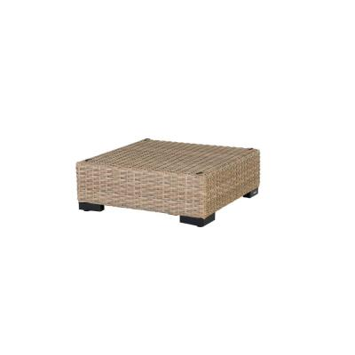 Commercial Natural Wicker Outdoor Ottoman Sectional Chair
