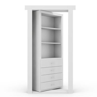 30 in. x 80 in. Flush Mount Assembled Dresser Door Paint Grade White Right-Hand Outswing