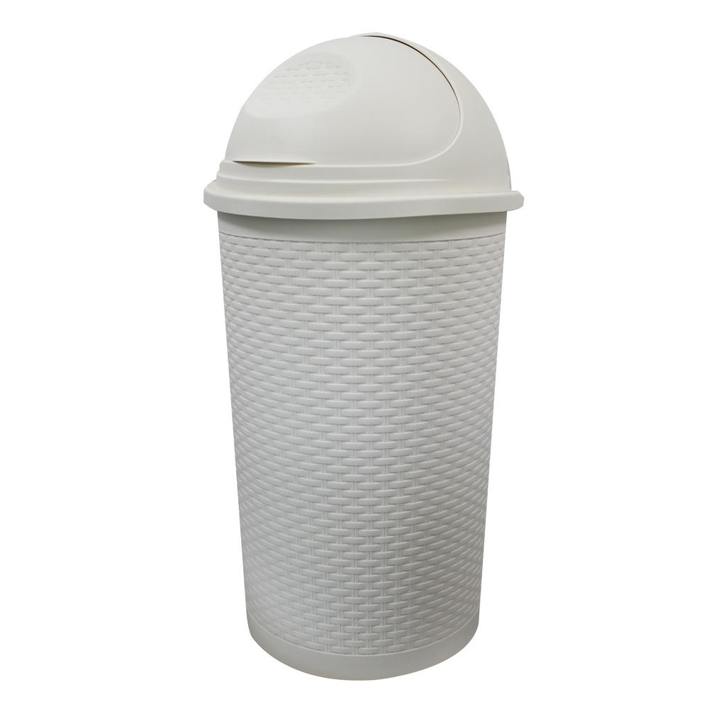Modern Homes 55L Roll Top Bin in White