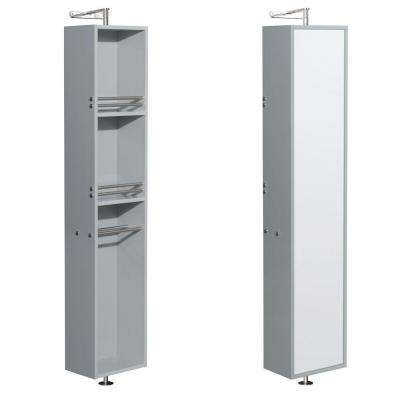 Amare 13-3/4 in. W x 73 in. H x 15 in. D Bathroom Linen Storage Cabinet in Dove Gray