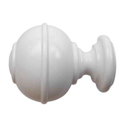 1-3/8 in. Wood Burger Finial in White