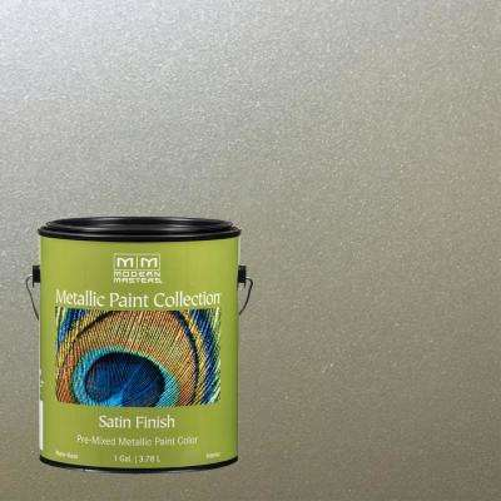 1 gal. Champagne Water-Based Satin Metallic Interior Paint