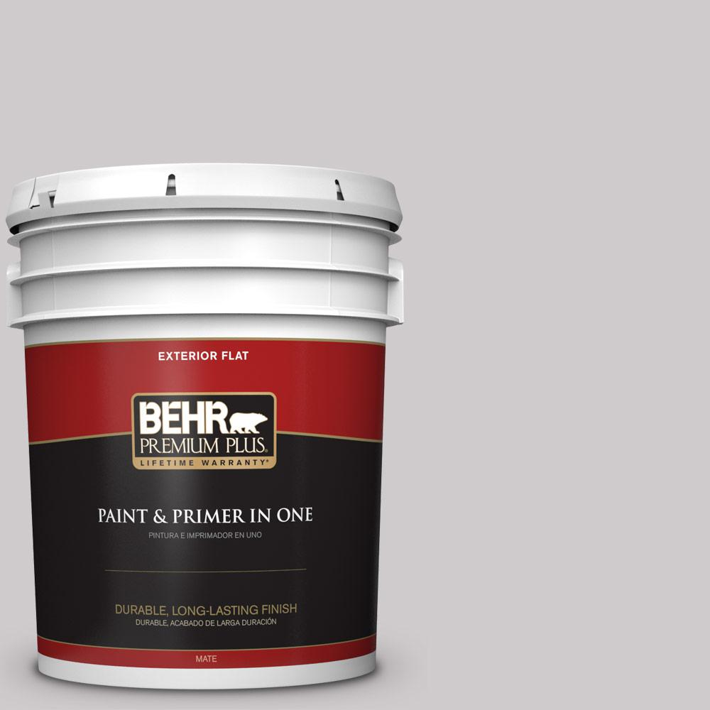 5 gal. #MQ3-28 Rock Crystal Flat Exterior Paint and Primer in