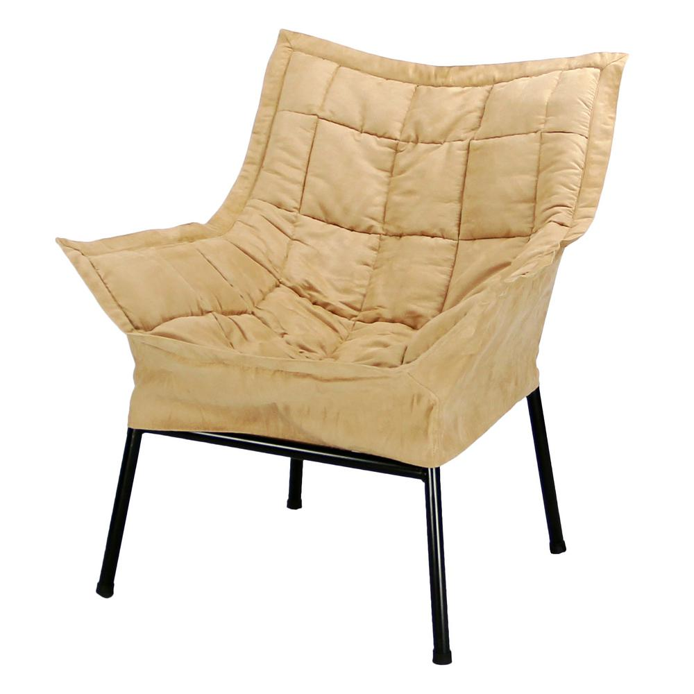 Casual Home Black Frame/Tan Cover Milano Chair