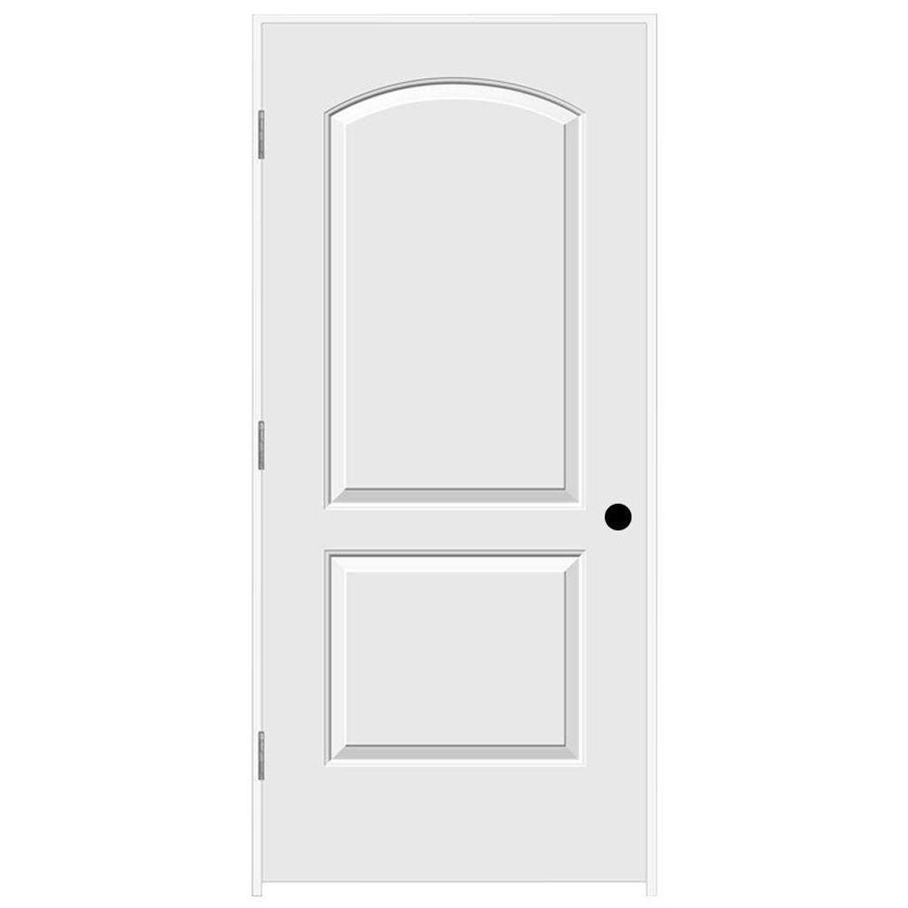 JELD-WEN 36 in. x 80 in. Continental Primed Right-Hand Smooth Solid Core Molded Composite MDF Single Prehung Interior Door