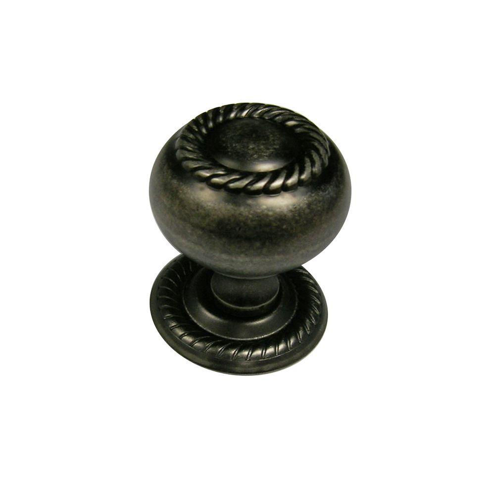 Richelieu Hardware 1-1/4 in. (32 mm) Pewter Traditional Metal Cabinet Knob