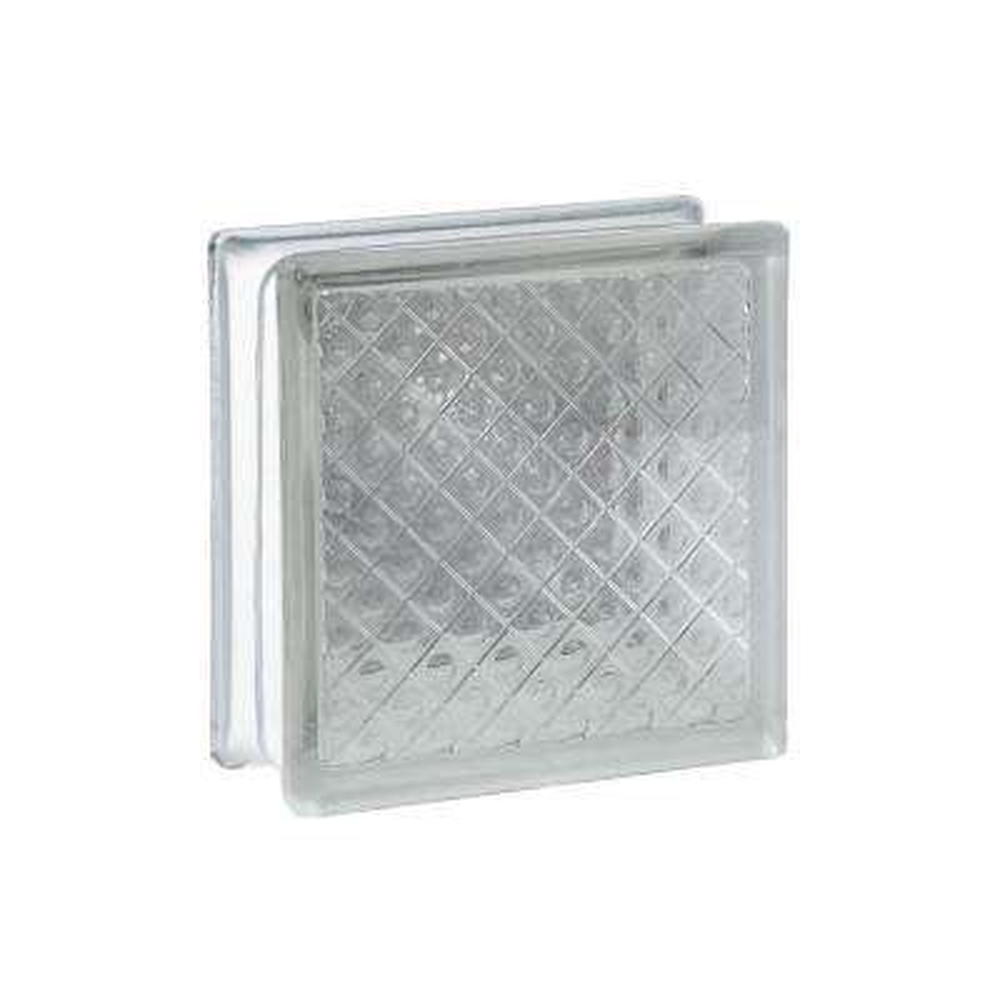 7.75 in. x 7.75 in. x 3.12 in. Diamond Pattern Glass Block (10-Pack)