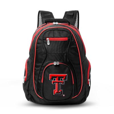 Denco NCAA Texas Tech Red Raiders 19 in. Black Trim Color Laptop Backpack, Multi-Colored