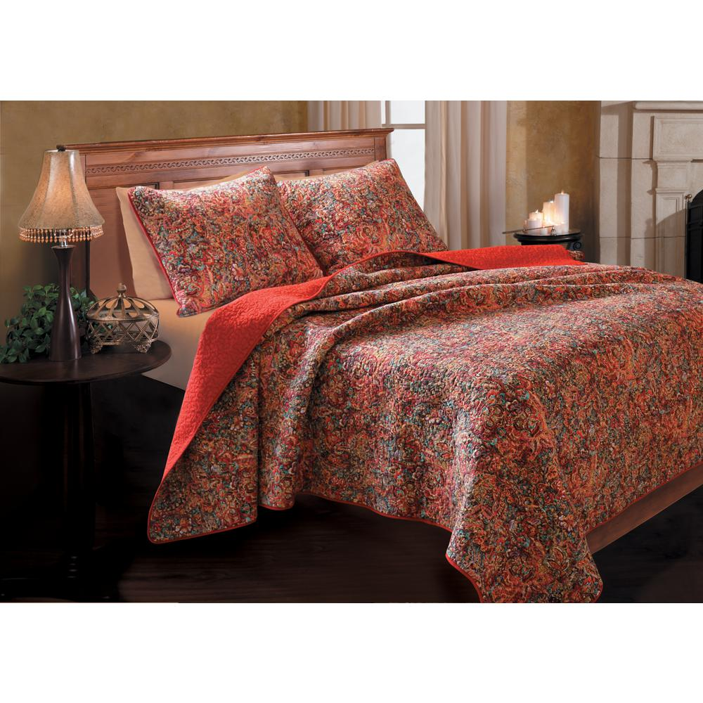 Greenland Trading Persian 3-Piece Multi Full and Queen Qu...