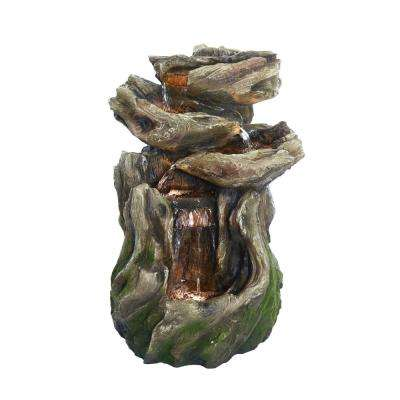 Rainforest 4-Tiered Fountain with LED Lights