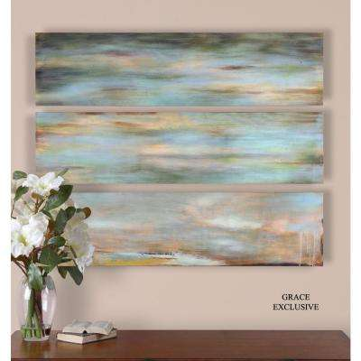 "12 in. x 48 in. ""Horizon View"" Wall Art (3-Set)"