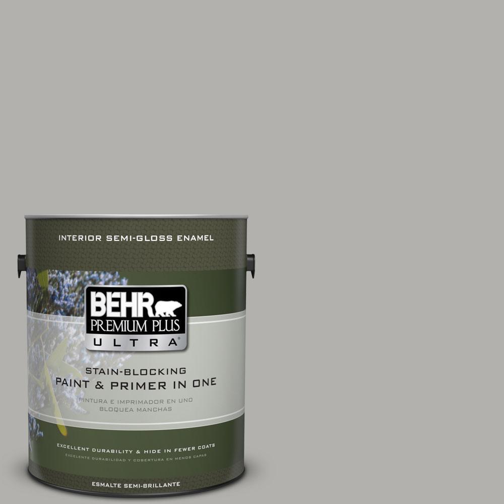 1-gal. #BXC-25 Colonnade Gray Semi-Gloss Enamel Interior Paint