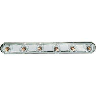 6-Light Chrome Bathroom Vanity Light