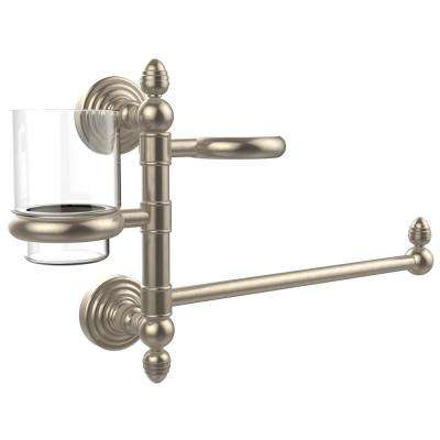 Waverly Place Collection Hair Dryer Holder and Organizer in Antique Pewter
