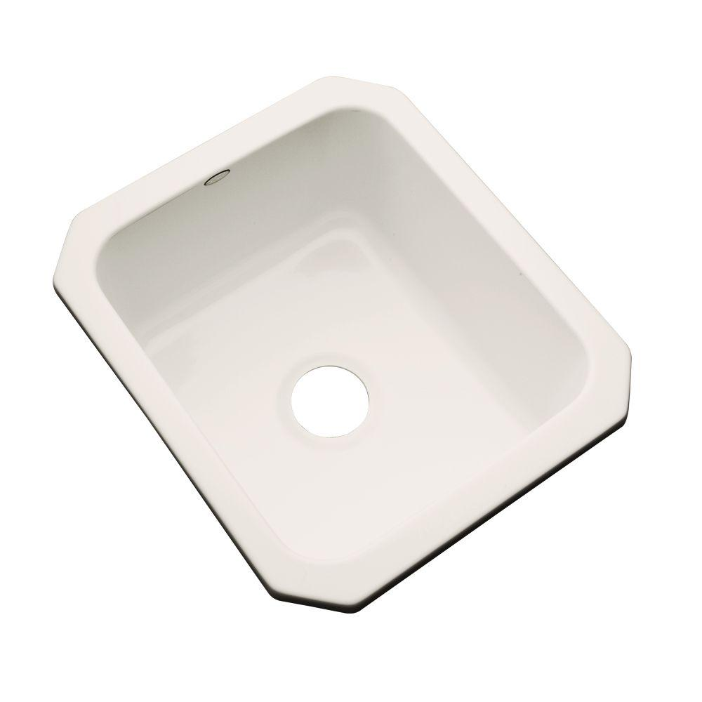 Crisfield Undermount Acrylic 17 in. Single Bowl Entertainment Sink in Almond
