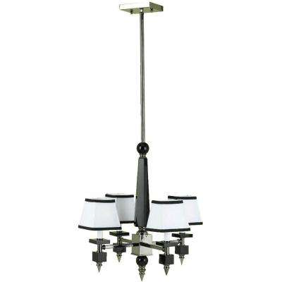 7202 4-Light Black Mini Chandelier