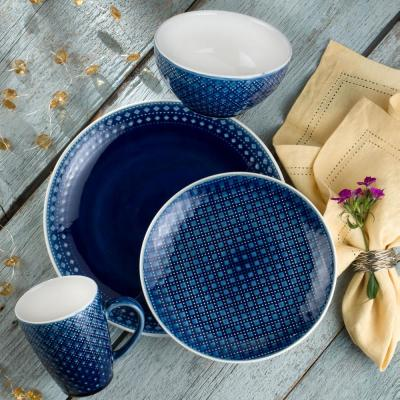 Palma 16-Piece Blue Dinnerware Set